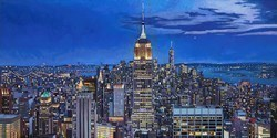 New York X by Stephen Collett -  sized 39x20 inches. Available from Whitewall Galleries